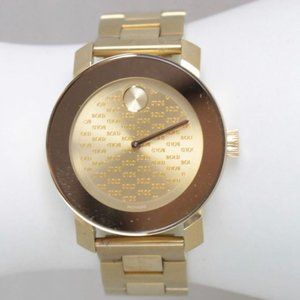 MOVADO Bold Gold Tone Stainless Steel Watch #21971